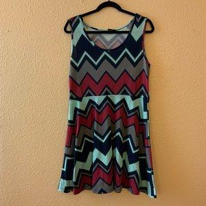 Rue21 Chevron Flare Dress